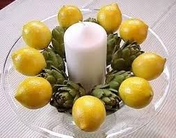 best artichoke lemons centerpiece