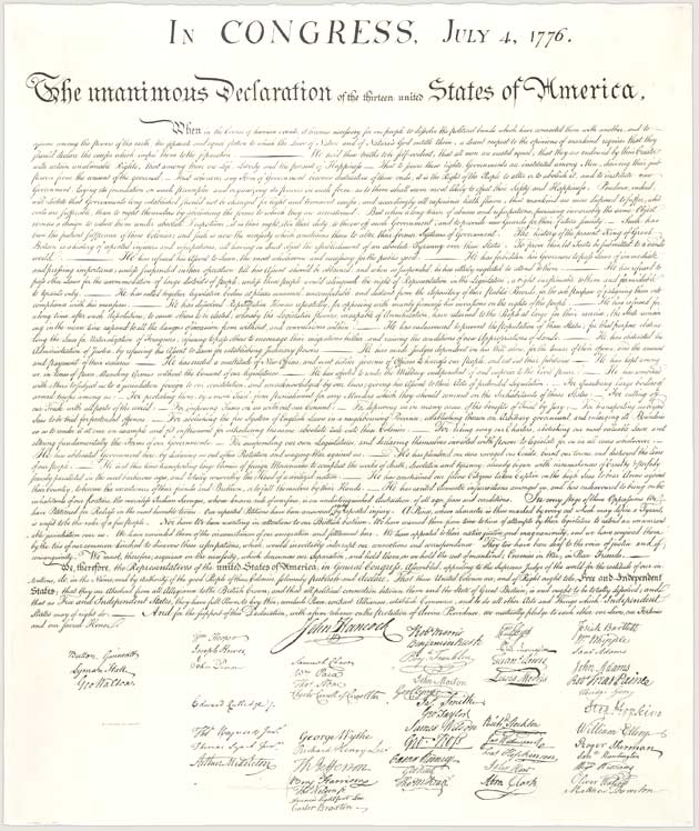 "declaration of independence ,""...all men are created equal..."""