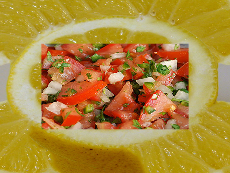 Salsa with lemon! Just perfect for baby boomers and senior citizens!